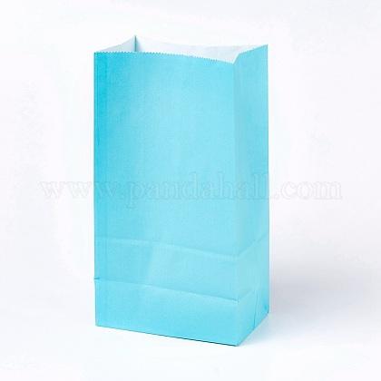 Sac en papier kraft de couleur pureCARB-WH0008-03-1
