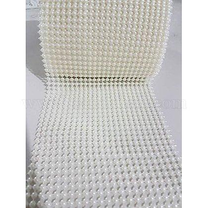 24列のabsプラスチックイミテーションパールメッシュリボンロールOCOR-R072-01-1