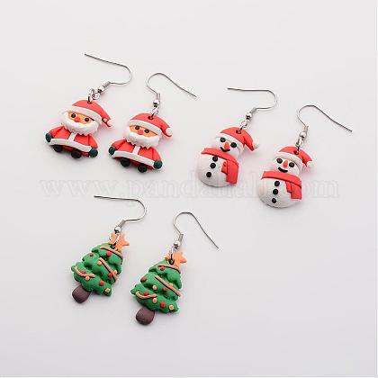 Christmas EarringsEJEW-JE02126-1
