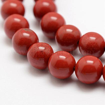 Natural Red Jasper Beads StrandsG-E375-8mm-02-1