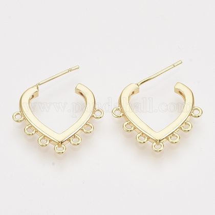 Brass Stud Earring FindingsKK-T054-57G-NF-1