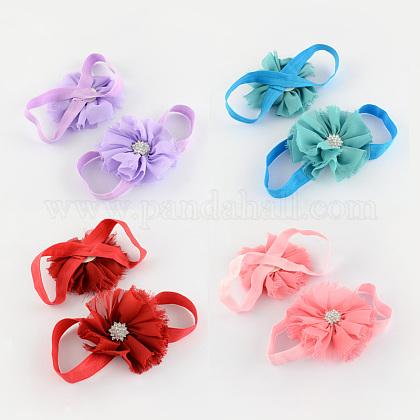 Elastic Baby Cloth Flower Foot BandsOHAR-R109-M-1