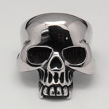 Cool Halloween Jewelry Skull Rings for MenRJEW-F006-110-1