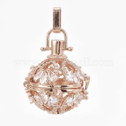 Brass Cage PendantsKK-Q749-012RG-1