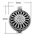 Estilo tibetano colgantes medallón difusorX-TIBEP-A24740-AS-LF-1