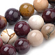 Natural Mookaite Beads Strands, Round, 6mm, Hole: 1mm; about 70pcs/strand, 15.7inches