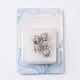 Antigüedad de la flor de plata chapado en aleación de rhinestone broches de clip europeo, cristal, 10.5x9.5mm, agujero: 3 mm