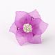 Flor de acrílico anillos ajustablesRJEW-JR00078-02-2
