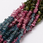Natural Tourmaline Chip Bead Strands, 3~5x3~5mm, Hole: 1mm; about 16
