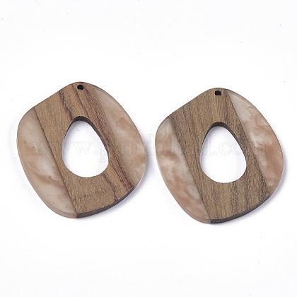 Colgantes de resina y madera de nogalRESI-S358-51-1