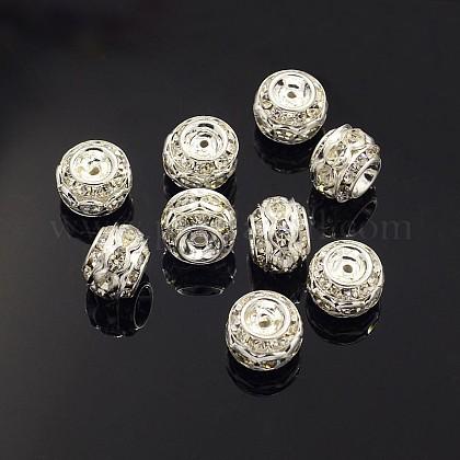 Abalorios de Diamante de imitación de latónRB-9X10-1