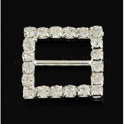 Brillante cuadrado invitación de la boda de la cinta hebillasX-RB-S019-11-1