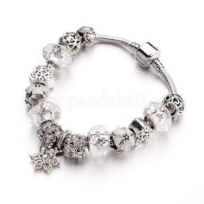 Fashion Brass European BraceletsX-BJEW-L583-01B-1
