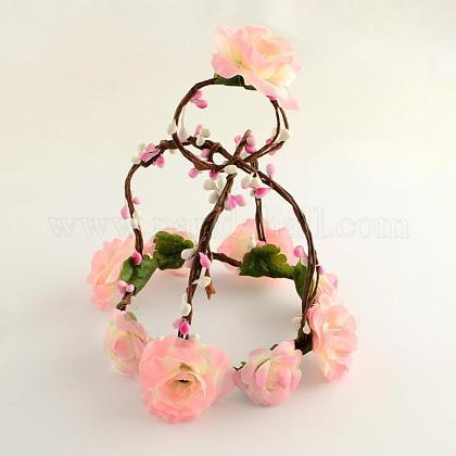 Cloth Flower Headbands with Iron WiresOHAR-R256-20A-1