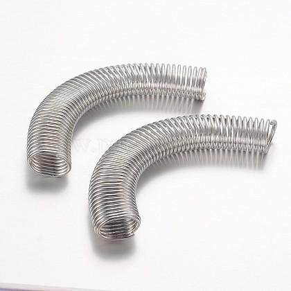 Iron Spring Tube BeadsIFIN-P007-01P-1