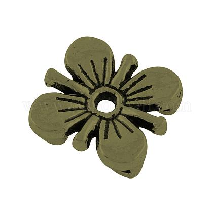 De aleación de estilo tibetano de varias vueltas enlaces flor del cirueloX-TIBE-0223-AB-FF-1