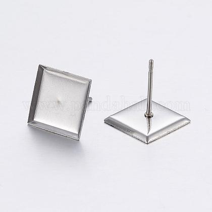 304 Stainless Steel Ear Stud FindingsSTAS-P198-22-1