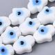 Hechos a mano de mal de ojo lampwork perlas hebrasX-LAMP-R143-06-1