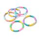Handmade Polymer Clay Heishi Beads Stretch BraceletsBJEW-JB04487-M-1