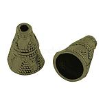 Tibetan Style Cone Alloy Bead Caps, Apetalous, Cadmium Free & Nickel Free & Lead Free, Antique Bronze, 8.5x11mm, Hole: 1.5mm; about 1408pcs/1000g