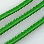 Imitation Leather Cord, PU Leather, SeaGreen, 4mm; 100yard/bundle(300 feet/bundle)