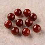 天然な赤い瑪瑙の丸いボールのビーズ, 宝石の球, 穴なし/ドリルなし, 染め&加熱, 16mm