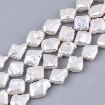 Hebras de perlas keshi de perlas barrocas naturalesPEAR-Q015-006-1
