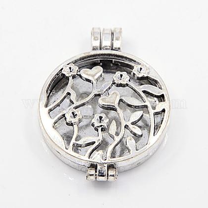 Estilo tibetano colgantes medallón difusorX-TIBEP-A24737-AS-FF-1