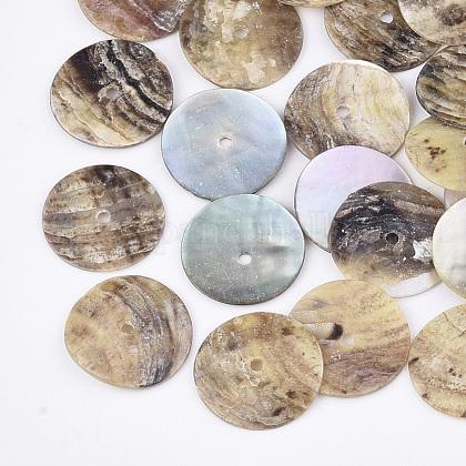 Natural Akoya Shell BeadsSHEL-T012-44-1