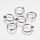 304 Stainless Steel Retractable Clip-on Hoop EarringsSTAS-K171-53P-1