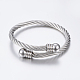 304 Stainless Steel Torque Bangles BJEW-G584-38P-3