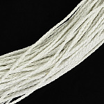 Braided Imitation Leather Cords, Round Bracelet Findings, White, 3x3mm; about 95m/bundle