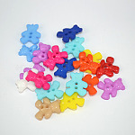 Little Bear 2-hole Sewing Buttons, Resin Button , Mixed Color, about 20mm long, 16mm wide, hole: 1.5mm, about 400pcs/bag