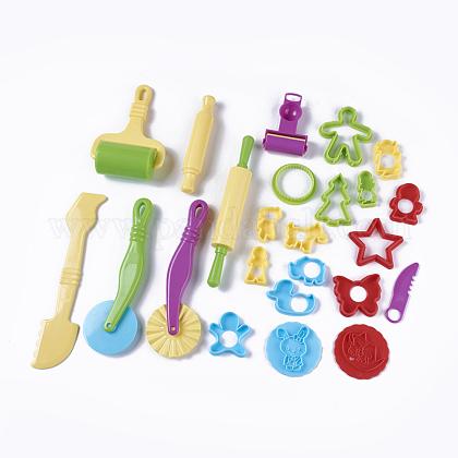 Mixed Plastic Plasticine ToolsAJEW-L072-13-1