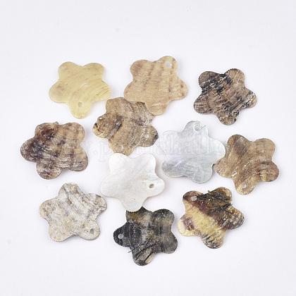 Natural Akoya Shell PendantsSHEL-T012-39-1