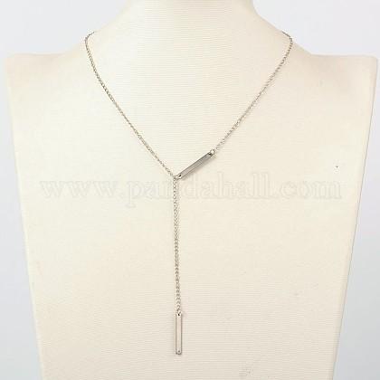 Trendy Iron Lariat NecklacesNJEW-JN00985-1
