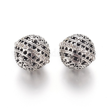 Alloy Rhinestone Beads RB-E519-01AS-1