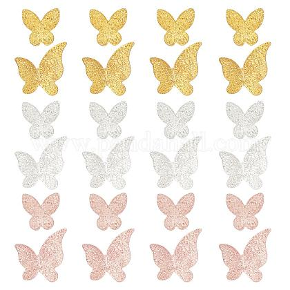 OLYCRAFT 120pcs Butterfly Resin Fillers 2-Style Alloy Epoxy Resin Supplies Butterfly Resin Accessories Resin Filling Charms for Resin Jewelry Making - Golden & Rose Gold & SilverPALLOY-OC0001-57-1