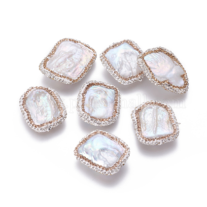 Perlas naturales abalorios de agua dulce cultivadasPEAR-F015-04A-1