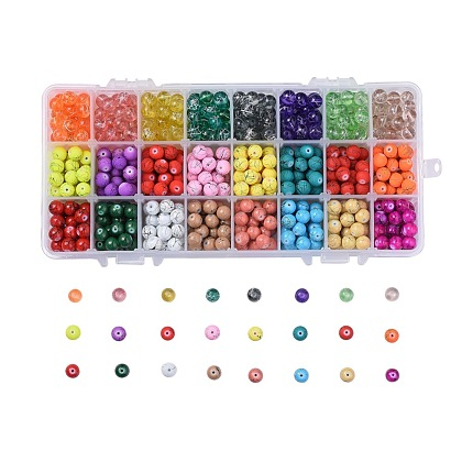 Mixed Style Drawbench Glass Beads GLAA-JP0001-07-1