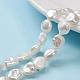 Hebras de perlas keshi de perlas barrocas naturalesPEAR-K004-31-1