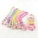 Flower Acrylic Pendant Necklaces and Stretch Bracelets Jewelry SetsSJEW-R048-04-2