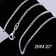 Brass Box Chain Necklace MakingNJEW-BB10859-20-1