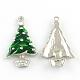 Colgantes de aleación de esmalte para árboles de navidad para el día de navidadENAM-R041-14-1