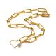 Iron Paperclip Chain NecklacesNJEW-JN02666-02-1