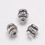 Tibetan Style Beads, Lead Free, Barrel, Antique Silver, 5x5x5mm, Hole: 1.5mm