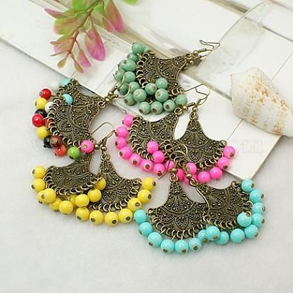 Tibetan Style Chandelier EarringsEJEW-JE00359-1