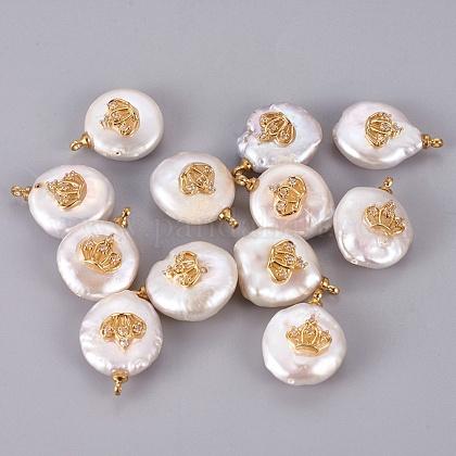 Colgantes naturales de perlas cultivadas de agua dulcePEAR-F008-46G-1