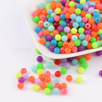 Perlas de acrílico fluorescentesMACR-R517-6mm-M-1
