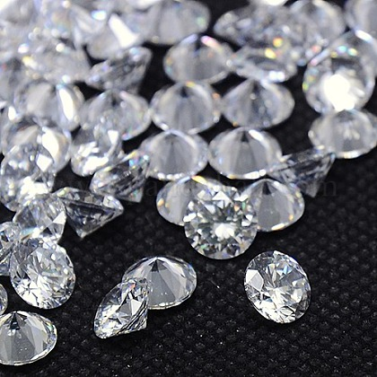 Clear Grade A Diamond Shaped Cubic Zirconia Cabochons X-ZIRC-M002-7mm-007-1